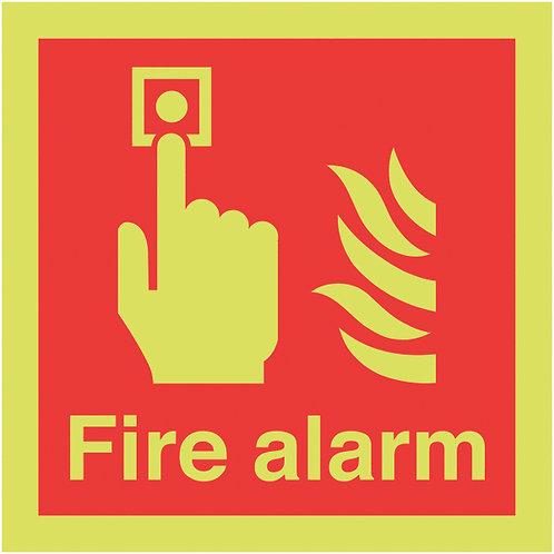 150x150mm Fire Alarm - Nite Glo Rigid
