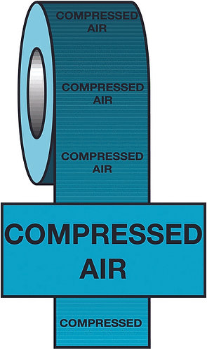 150mmx33m Compressed Air BS Pipeline Marking & Identification Tape