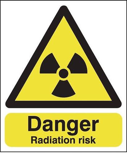 210x148mm Danger Radiation Risk - Rigid
