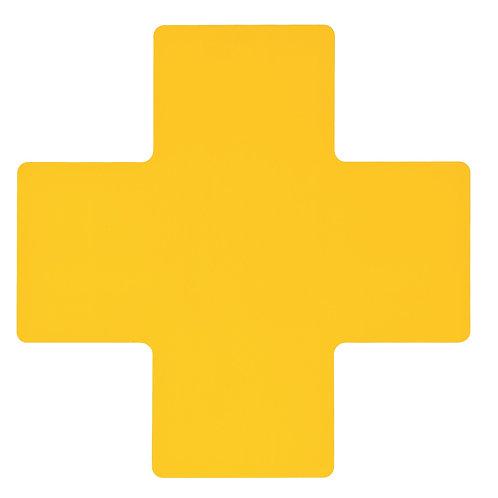 "2"" X 5"" Ylw Floor Crosses Pack of 20"