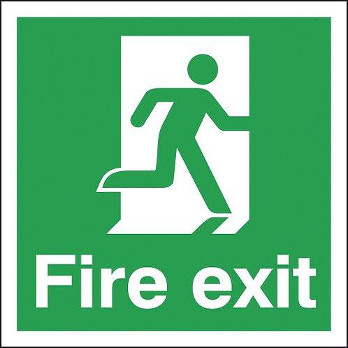 150x150mm Fire Exit Running Man Right - Rigid