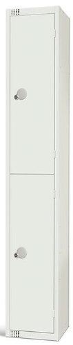 2 CompartmentLocker - White - 1800 x 300 x 300mm