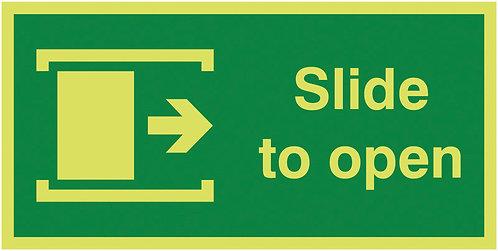 100x200mm Slide To Open Right - Nite Glo Rigid