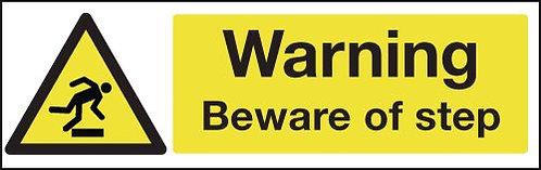 100x250mm Warning Beware of Step - Rigid