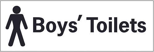 100x300mm Boys toilets - Self Adhesive