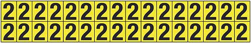 19x14mm Vinyl Cloth Numbers Card 2