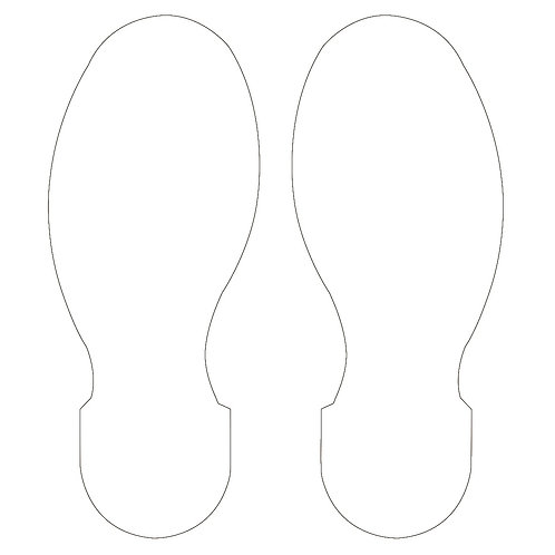 """10"""" X 3.5"""" White Footprint Pack of 10"""
