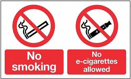 150x300mm No smoking no e-cigarettes allowed - Rigid