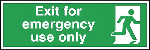 150x450mm Exit For Emergency Use Only - Self Adhesive