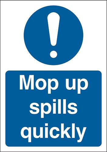 210x148mm Mop up spills quickly - Rigid