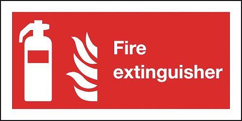 200x400mm Fire Extinguisher Symbol & Flames - Rigid