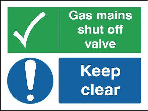 150x200mm Gas Mains Shut Off Valve Keep Clear