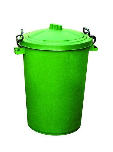 110 Litre Clip Lid Bin - Green