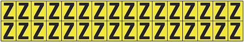 19x14mm Vinyl Cloth Letters Card Z