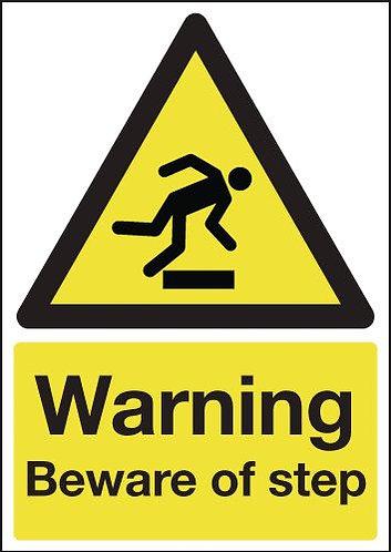 210x148mm Warning Beware of Step - Rigid