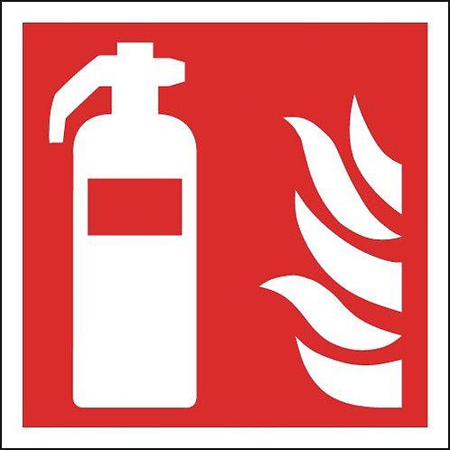 200x200mm Fire Extinguisher Symbols Only - Rigid