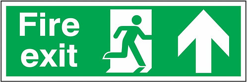 150x450mm Fire exit up sign - Double sided