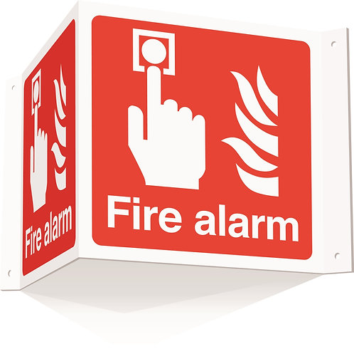 200x400mm Fire alarm Projecting 3D Sign