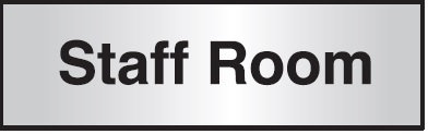 102x305mm Staff Room Architectural Door Sign Centre Aligned