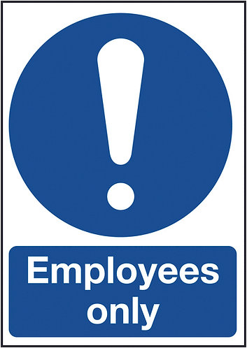 210x148mm Employees Only - Rigid