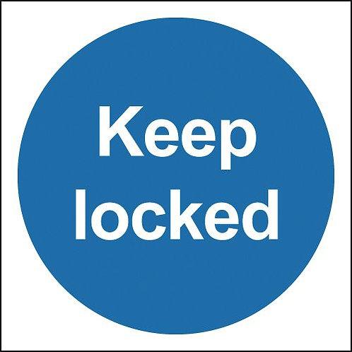 100x100mm Keep Locked - Self Adhesive