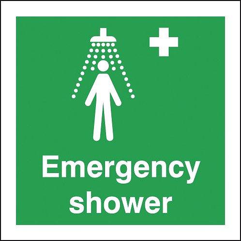 150x150mm Emergency Shower - Rigid