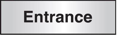 102x305mm Entrance Architectural Door Sign Left Aligned