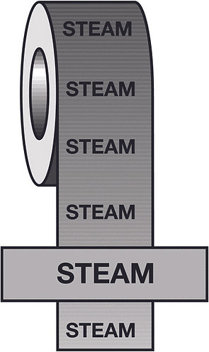 150mmx33m Steam BS Pipeline Marking & Identification Tape