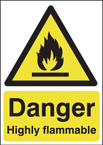 210x148mm Danger Highly Flammable - Rigid