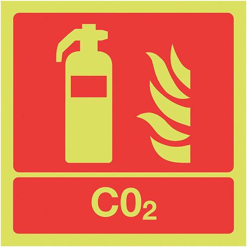 100x100mm CO2 Extinguisher - Nite Glo Rigid