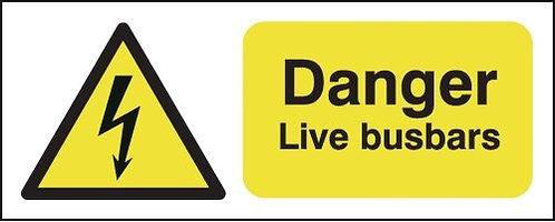 100x250mm Danger Live Busbars - Rigid