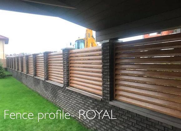 Fence Panel Profile - ROYAL