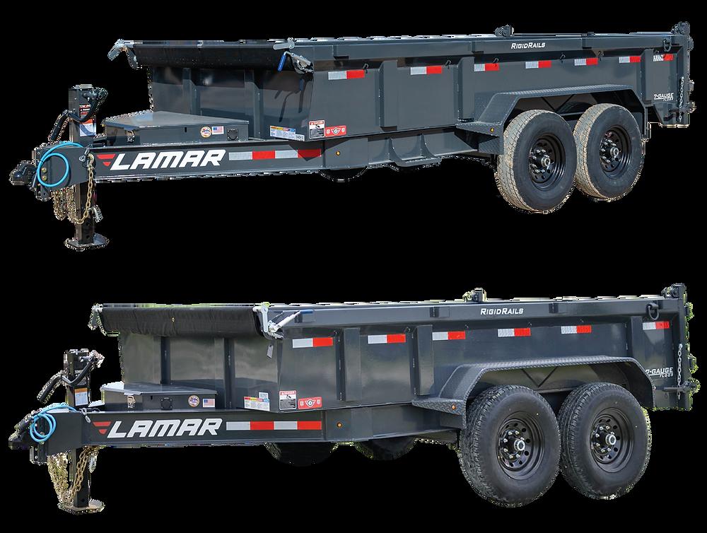 The redesigned Lamar Low Profile Dump Trailer