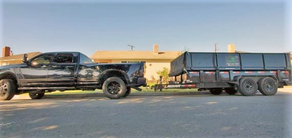 Lamar Dump trailer with side extensions