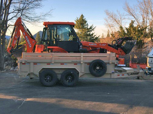 lamar dump trailer with tractor