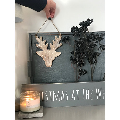WOODEN HANGING RUDOLPH