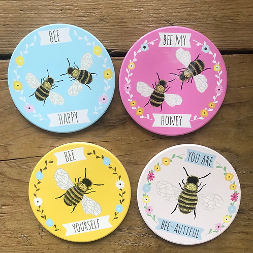 BOXED BEE COASTERS