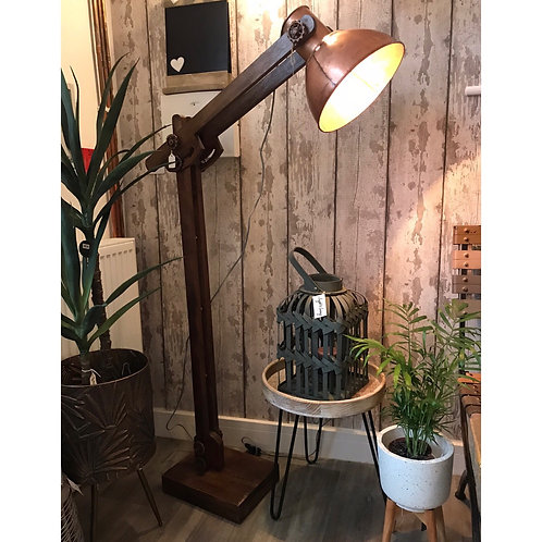 CHUNKY COPPER FLOOR LAMP