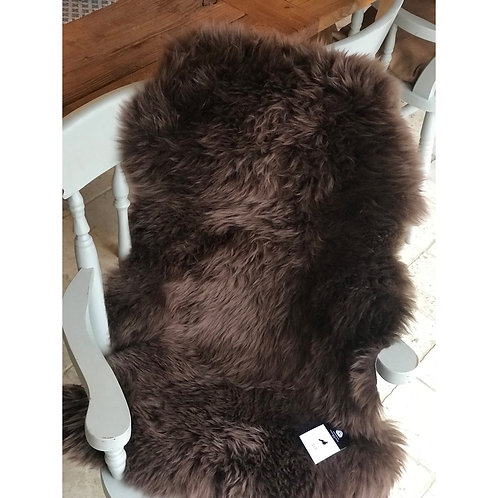DARK TAUPE SINGLE SHEEPSKIN