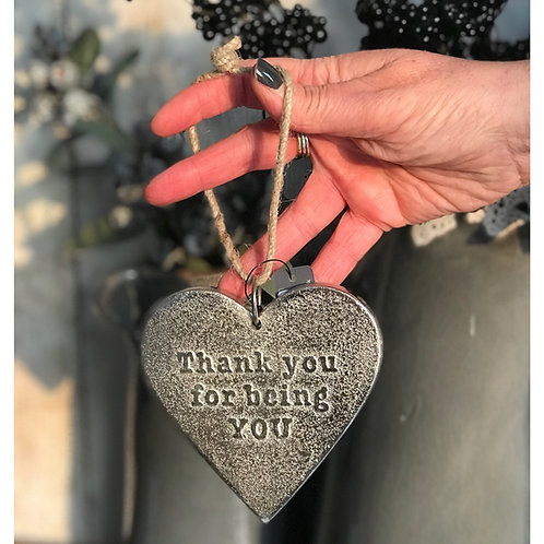 THANK YOU FOR BEING YOU HANGING HEART