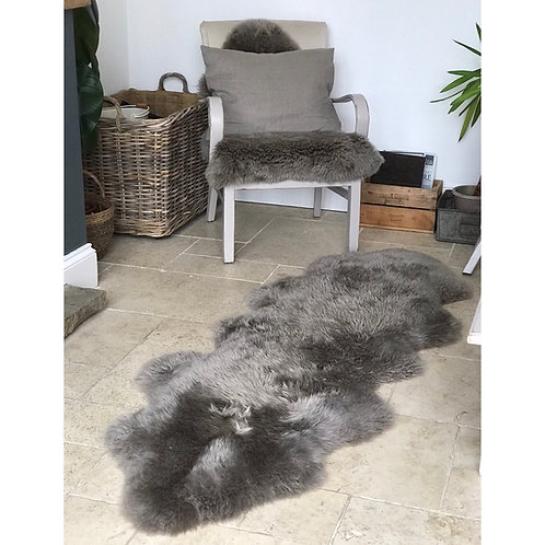 TAUPE DOUBLE SHEEPSKIN RUG