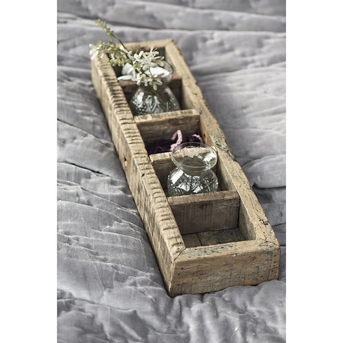 WOODEN 5 ROOMED BOX