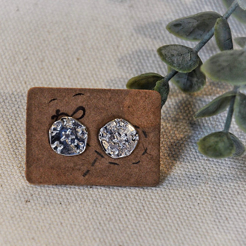 CIRCLE STUDS WITH STARS