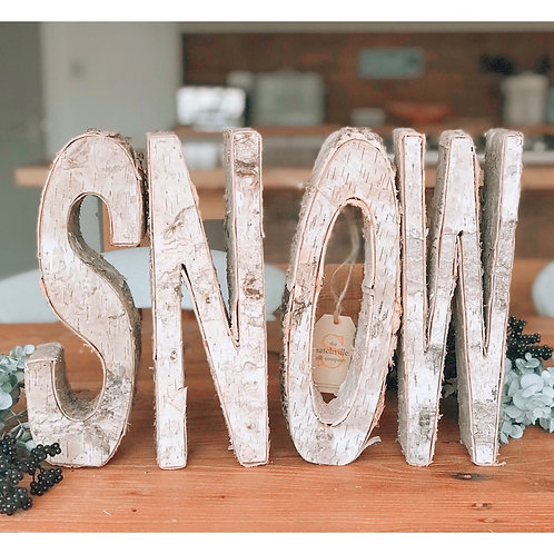 SNOW INDIVIDUAL WOODEN LETTERS