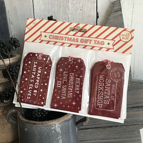 RUSTIC CHRISTMAS GIFT TAGS