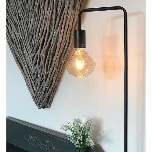 RETRO BULB BLACK FLOOR LAMP