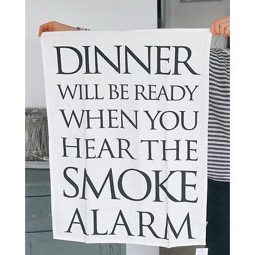 SMOKE ALARM TEA TOWEL