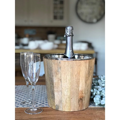 WOODEN PARTY ICE BUCKET