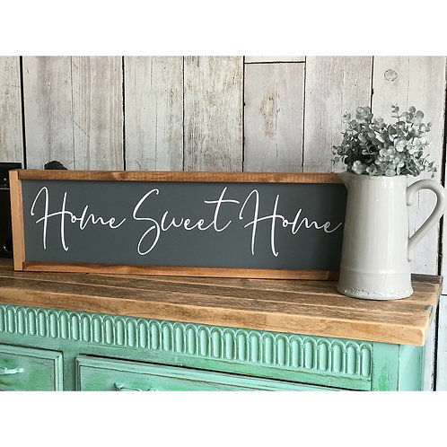 HOME SWEET HOME MEDIUM CRATE SIGN
