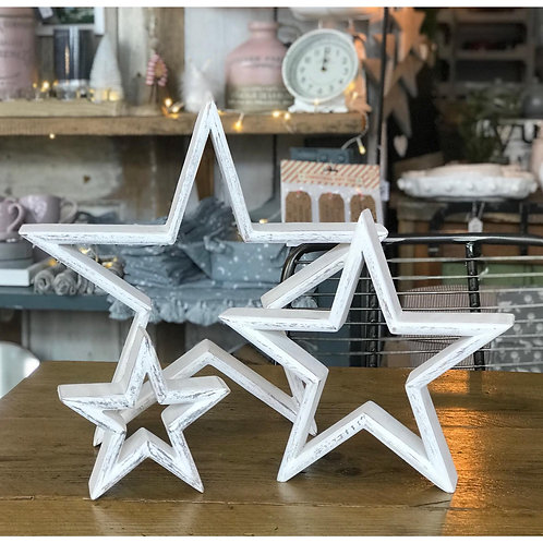 SET OF 3 MANTLE PIECE STARS